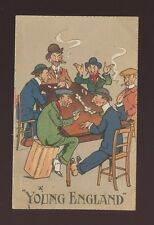 Social History Gambling DOMINOES Young England used c1915 PPC