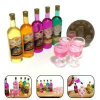 9pcs/set 1:12 Mini Wine Bottles DIY Miniature Dollhouse Accessories Decor B8Z4