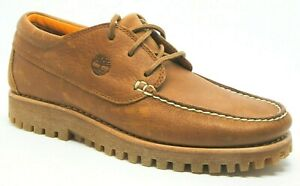 Mens Timberland Boat Shoes Brown Leather Upper Smart Casual Size UK 8.5  EU 43