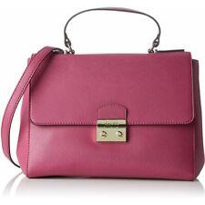 Guess Aria Top Handle Bag, Fuchsia Ladies Handbag With Shoulder Strap RRP £145