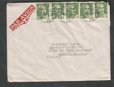 France 1947 cover EAA 11 rue Tronchet Paris/rue Vignon cancel to USA