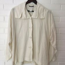 RARE Vintage Issey Miyake 100% Linen Blouse, size Small