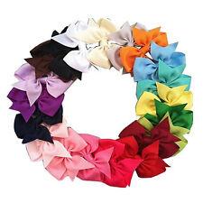 20pcs Bow Alligator Clip Hairpin for Girls Grosgrain Ribbon Boutique Hair Clips