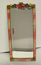 1 BEAUTIFUL RECTANGULAR WALL HANGING  BARBOLA MIRROR COLOURFUL LARGE SHABBY CHIC