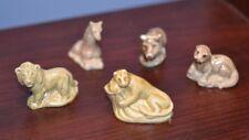 5 Red Rose Tea Figurines Giraffe, Panther, Boar, Weasel & Lion