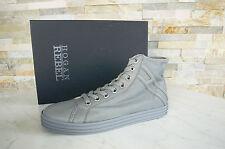 HOGAN REBEL  43  9 High-Top Sneakers Schnürschuhe Schuhe grey grau NEU UVP 298 €