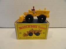 MATCHBOX LESNEY #43b Aveling Barford Tractor Shovel Mint in Box