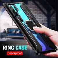 For Xiaomi Mi Note 10 Pro Slim Magnetic Ring Car Holder Hybrid Armor Case Cover