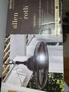 Allen + Roth L1120H Valdosta 20in 3 Blade Ceiling Fan - Bronze Indoor/Outdoor