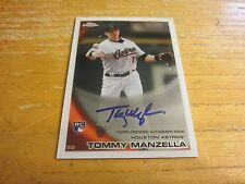Tommy Manzella 2010 Topps Chrome Rookie Autographs #207 Card MLB Houston Astros