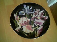 """Danbury Mint 8"""" Iris Plate Flower Gardens Of Count Bernadotte C1800"""