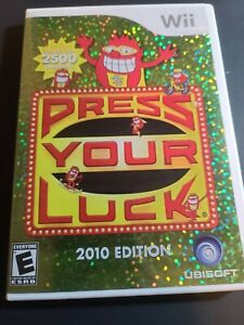 Press Your Luck -- 2010 Edition (Nintendo Wii) Complete in Box Free Shipping!