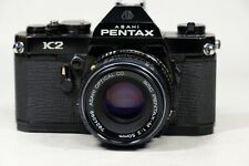 Pentax K2 Black aint with 50mm f2-M lens and Bonus Lens