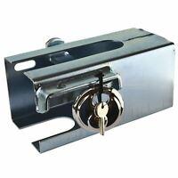 Trailer / Caravan Coupling Hitch Lock Steel Box Security Safe Type TR104