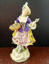 Passau Dressel, Kister & Co Dame mit Blumen Antike Porzellan Figur Sammelstück