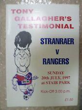 1997 Tony Gallagher's Testimonial Match- STRANRAER v RANGERS, 20th July