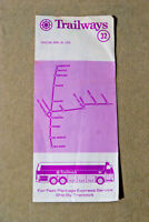 Trailways Bus Schedule #32 - San Francisco - April 29., 1979