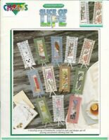 Slice of Life BOOKMARKS in Counted Cross Stitch Color Charts 12 Designs