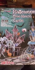 Halloween 3d puzzle haunted Tree House Castle 2 houses in one