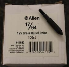 "BRAND NEW Allen Field Points Bullet Point, 17/64"", 125 Grains, 100 Pieces #44633"