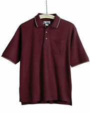 Tri-Mountain Men's Big And Tall Two Tone Trim Collar Pocket Golf Shirt. 117-Tall