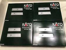 Kato Amtrak Auto Train Autorack 4 sets 5501 5502 5505 5506 Autotrain Auto Rack