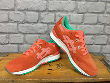 ASICS GEL LYTE III UK 7 ORANGE RUNNING TRAINERS H511L LEATHER RRP £100