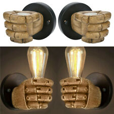Retro Industria Edison Hand Shape Loft Wall Light Cafe Bar American Wall Lamp