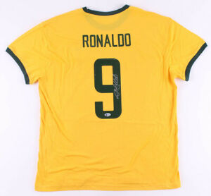 Ronaldo Nazario Signed/Autographed Brazil Jersey with Beckett Authentication