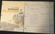 Danuser Blades - The Versatile - 1979 Four-Page Brochure plus Price Sheets