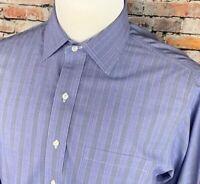 Brooks Brothers Regent Mens 16-36 LS Button Up Dress Shirt Blue White Glen Plaid