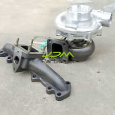 for Lexus Toyota 2JZ-GTE T4 Oil cold Turbo AR0.80 / 0.96+T4 CAST Turbo Manifold