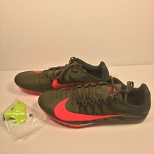 NIKE ZOOM RIVAL TRACK & FIELD SPIKES 907564-301 Green & Carmine Pink SIZE 11