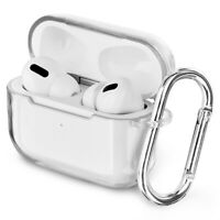 For Apple AirPods Pro Case Cover Clear Purple Shockproof TPU Charging Case Cover