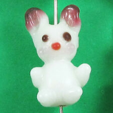 Glass Rabbit Lampwork Beads-EASTER BUNNY (4)