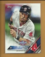 MOOKIE BETTS 2016 TOPPS Opening Day Card # OD-112 Boston Red Sox Baseball