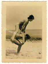 Nudism nude Couple on Beach/photoshoppare COPPIA NUDISTI * VINTAGE 50s amatoriale Photo #3
