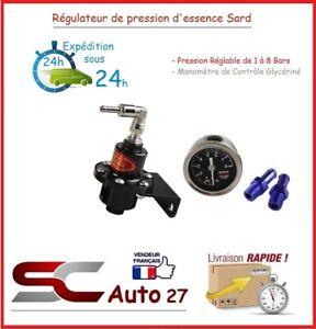 Régulateur de pression d'essence noir réglable convient golf 1, 2, 3, 4.