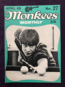 Original MONKEES MONTHLY Magazine No.27 Apr 1969 Rare Late Issue  (USA BEATLES)