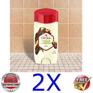 2x Old Spice @ TIMBER with Sandalwood Deodorant & Anti Persirant @ 2x 63g/2.25oz