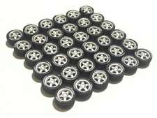 1:64 rubber tires rims axles - fit Kyosho Hot Wheels Tomica DIY diecast - 9 sets