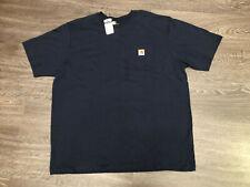 Carhartt Box Logo Navy Pocket Original Fit T-Shirt 2XL NEW