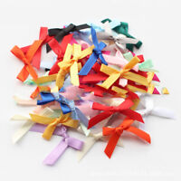 50Pcs DIY Wedding and Party Cute Satin Small Ribbon Bows Tied Craft Decoration