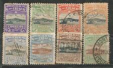 URUGUAY Scott# 225-232 usados lote 1919 Puerto de Montevideo