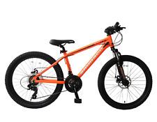 "Osprey V1 24"" Wheel Kids Boy MTB Bike 21 Speed Disc Brake Alloy 14"" Frame Orange"