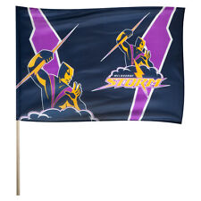 Licensed NRL Melbourne Storm GAME DAY Pole Flag Banner Fathers Day Man Cave