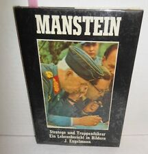 BOOK Manstein Strategist & Troop Leader in Photos with Maps op 1980 In German