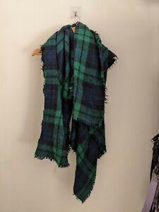 Zara Tartan Green Blanket Scarf