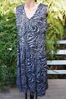 As NEW Liz Jordan DESIGN Summer Cocktail DRESS Size 14. Lacy Look Black/Ivory