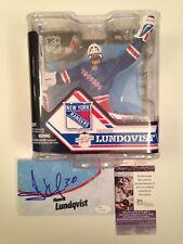 JSA Henrik Lundqvist Signed NHL Series 32 McFarlane #0532/2000 Blue Jersey